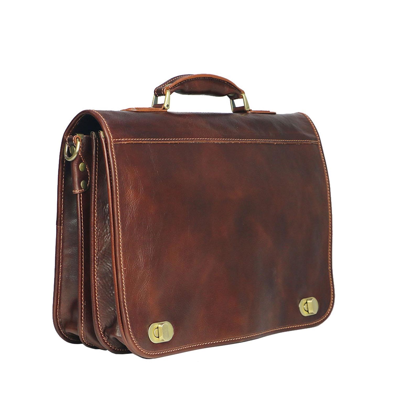 LUIGI: cartella/borsa ufficio uomo, in cuoio, colore: MARRONE, Made in Italy