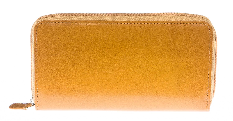 Portafoglio donna in vera pelle tradizionale SANTINI mod FIORDALISO colore GIALLO Made in Italy.