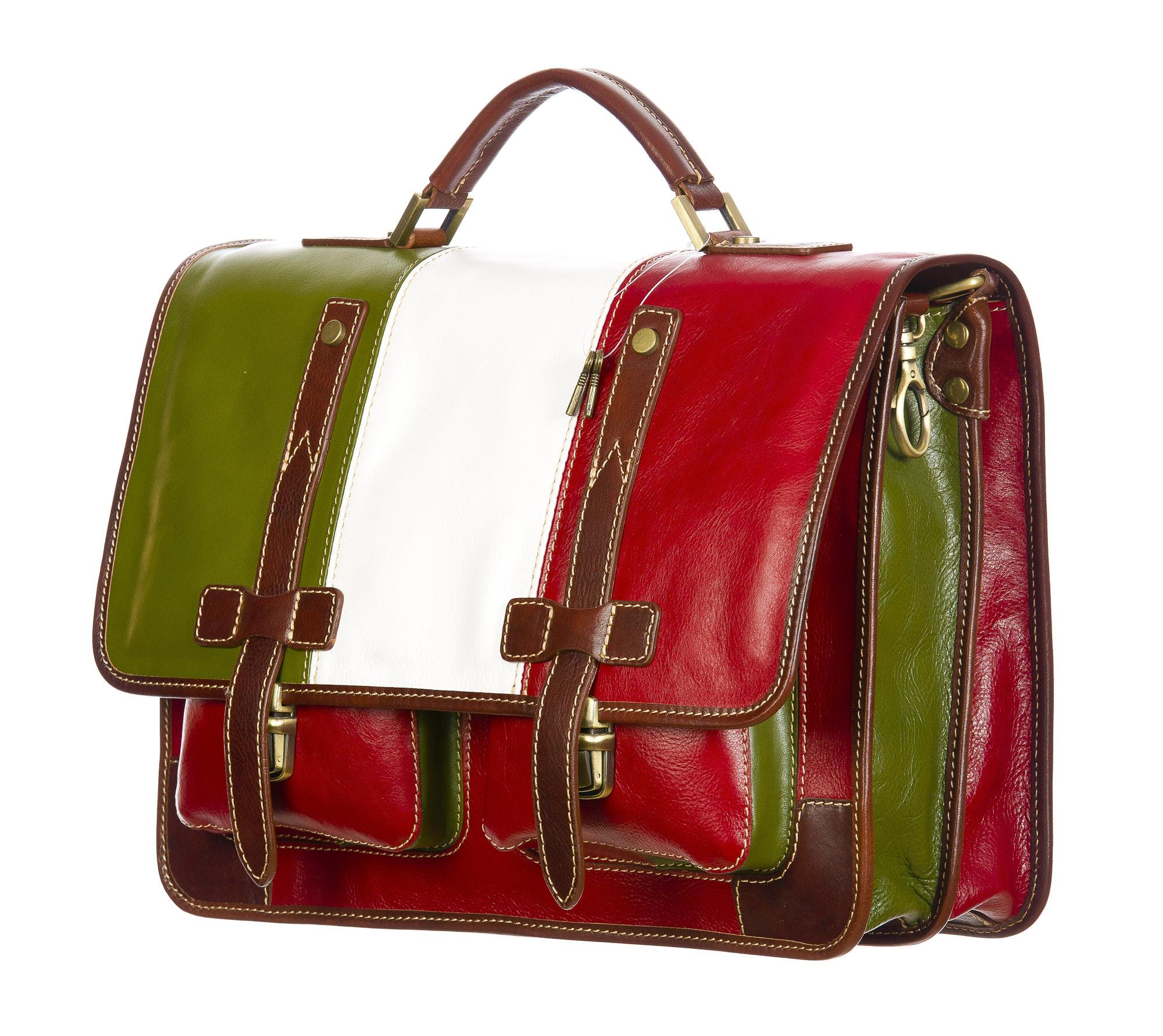 ERNESTO: cartella /borsa, zaino ufficio uomo, in cuoio, colore: TRICOLORE, Made in Italy