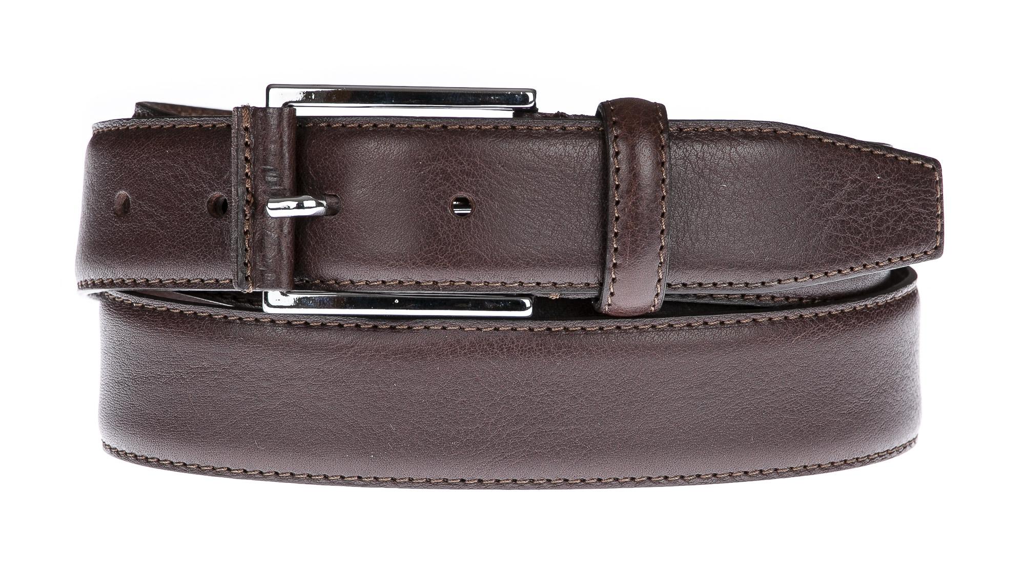 Cintura uomo in vera pelle GUBBIO, colore MARRONE, EMPORIO TITANO, Made in Italy