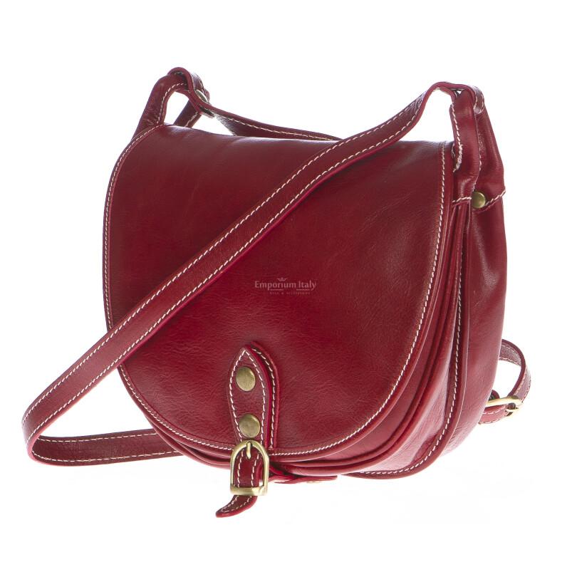 Borsa donna in vera pelle RINO DOLFI mod. TATIANA colore ROSSO Made in Italy