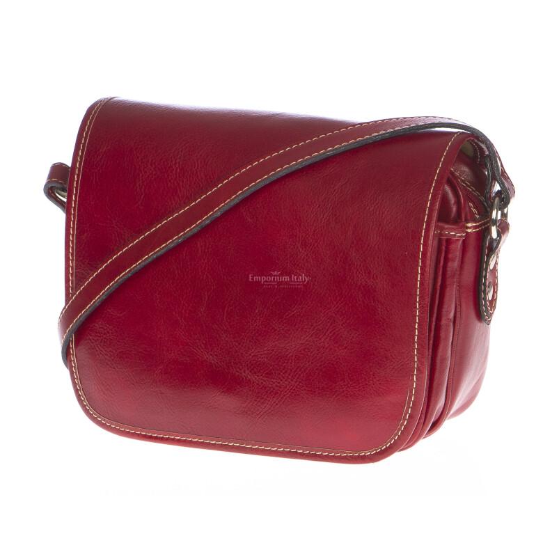 Borsa donna in vera pelle RINO DOLFI mod. PERLA colore ROSSO Made in Italy