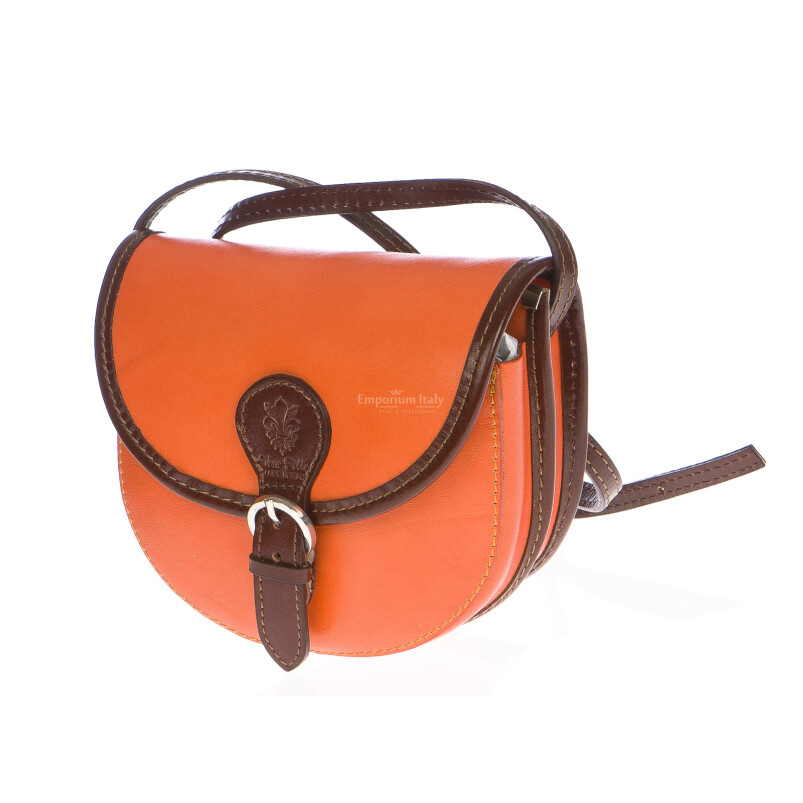 Borsa donna in vera pelle MAESTRI mod. RAMONA colore ARANCIO Made in Italy