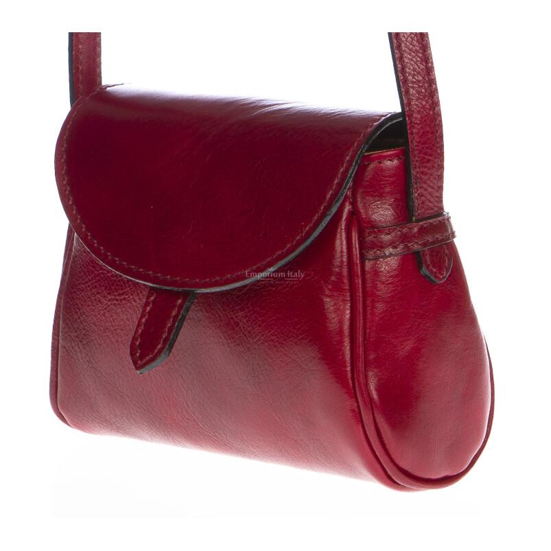 Borsa donna in vera pelle RINO DOLFI mod. ROSETTA colore ROSSO Made in Italy
