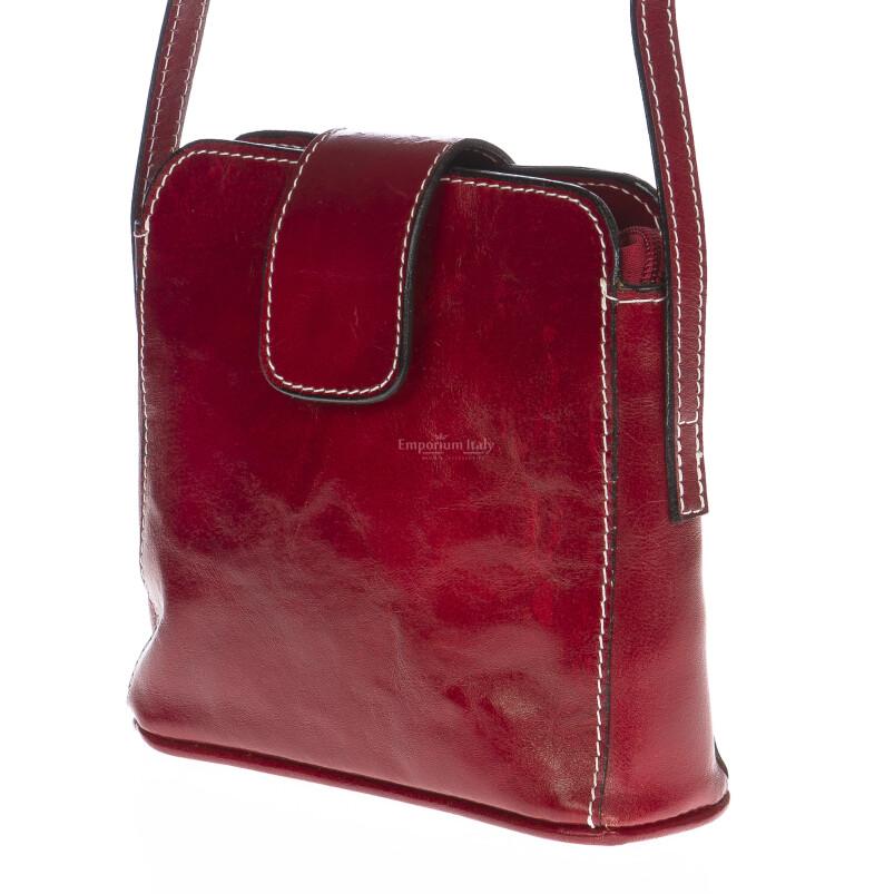 Borsa donna in vera pelle MAESTRI mod. ROSSANA colore ROSSO Made in Italy