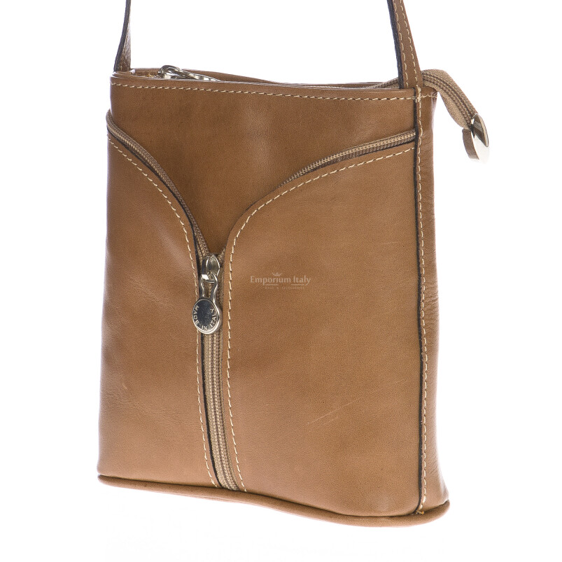 Borsa donna in vera pelle MAESTRI mod. SONIA colore BEIGE Made in Italy