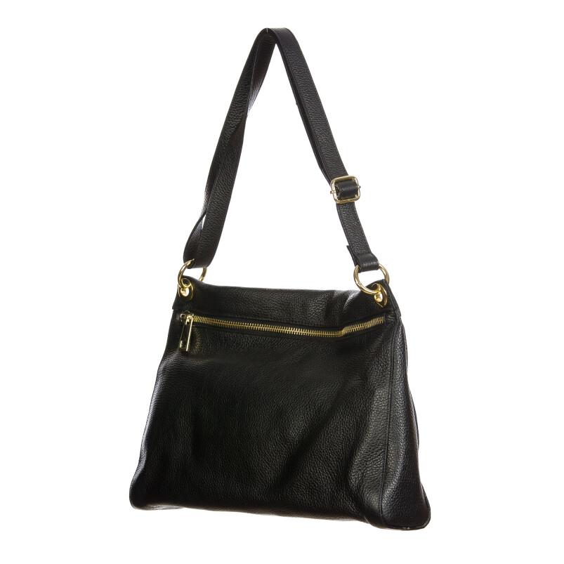 EMMA : borsa donna a spalla, pelle morbida, colore : NERO, Made in Italy