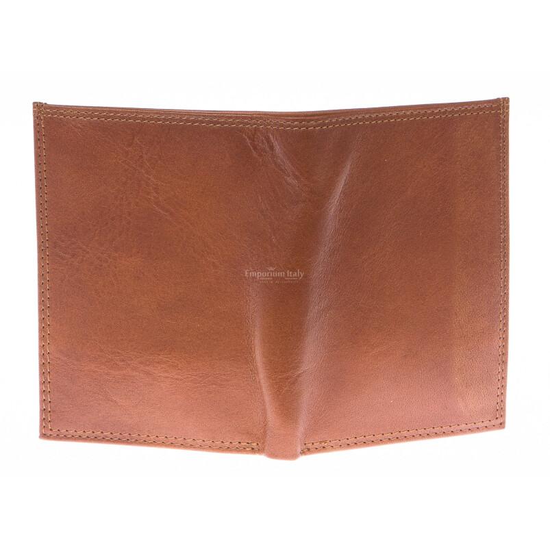Portafoglio uomo in vera pelle tradizionale SANTINI, mod ECUADOR, colore MARRONE, Made in Italy.