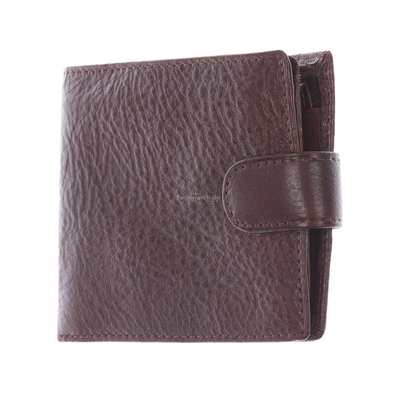AREZZO: portafoglio uomo in pelle morbida, colore: TESTAMORO, Made in Italy
