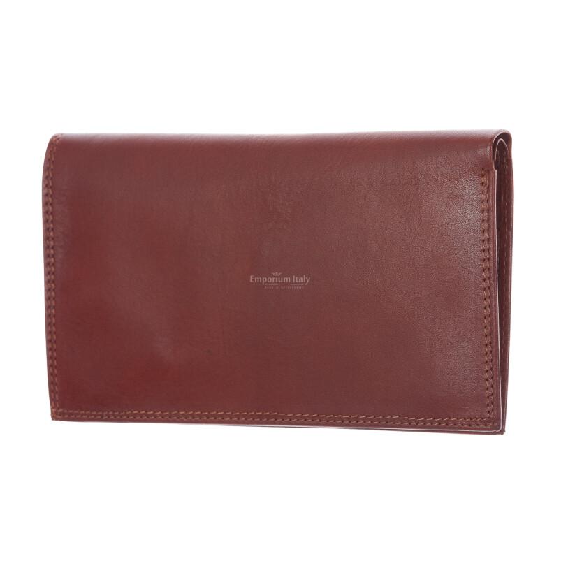 CONGO: мужской кожаный кошелек макси, цвет: коричневый, сделано в Италии
