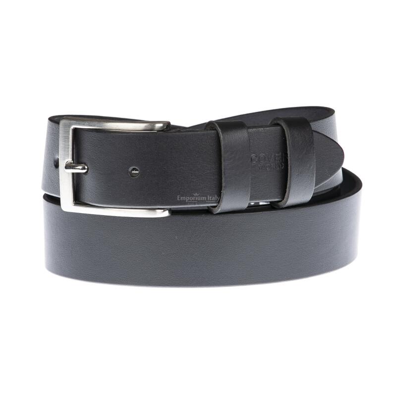Cintura uomo in vera pelle RIMINI, colore NERO, COVERI, Made in Italy