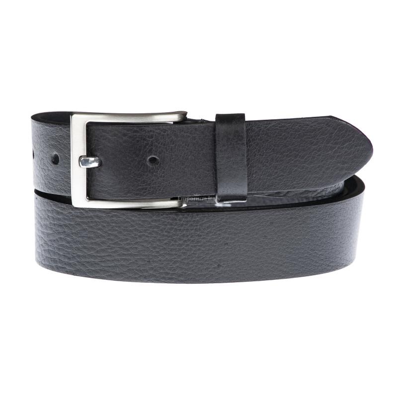 Cintura uomo in vera pelle LODI, colore NERO, EMPORIUM ITALY, Made in Italy
