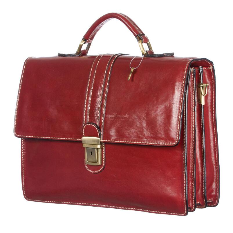 Cartella ufficio / lavoro in vera pelle RINO DOLFI mod. MAURIZIO colore ROSSO Made in Italy.