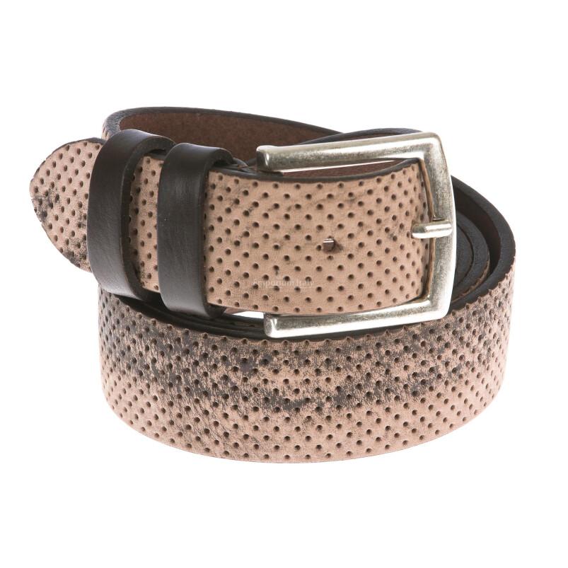Cintura donna in vera pelle GIULY mod. STOCCOLMA colore MARRONE Made in Italy