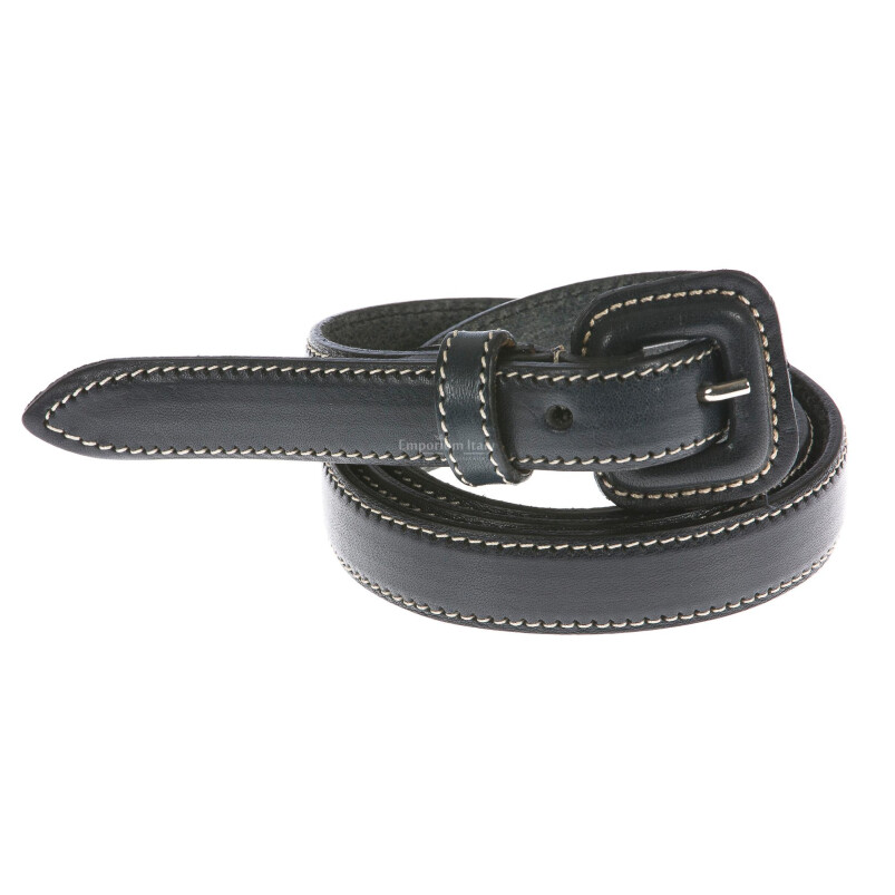 Cintura donna in vera pelle RENATO BALESTRA mod. UDINE colore BLU Made in Italy