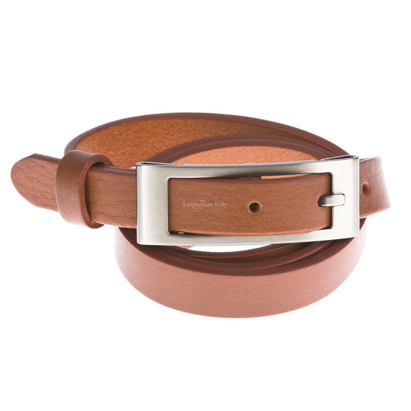 Cintura donna in vera pelle DELIA REI mod. CARRARA colore MIELE Made in Italy
