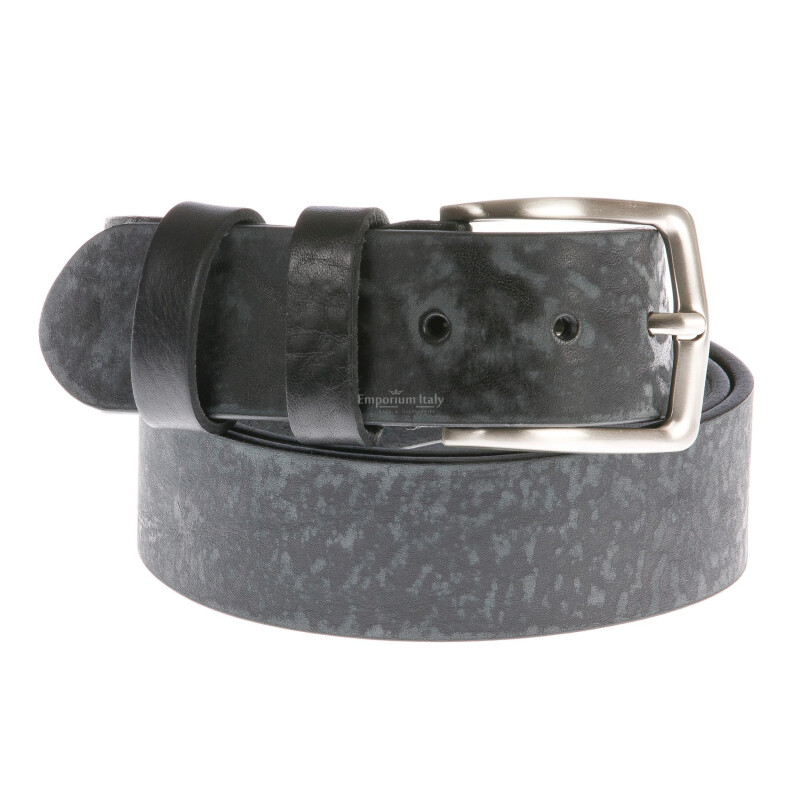 Cintura uomo in vera pelle RINO DOLFI mod. BARI colore NERO Made in Italy