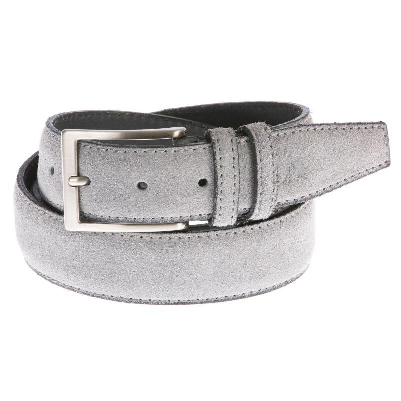Cintura uomo in vera pelle CORTINA POLO STYLE mod. CATANZARO colore GRIGIO Made in Italy