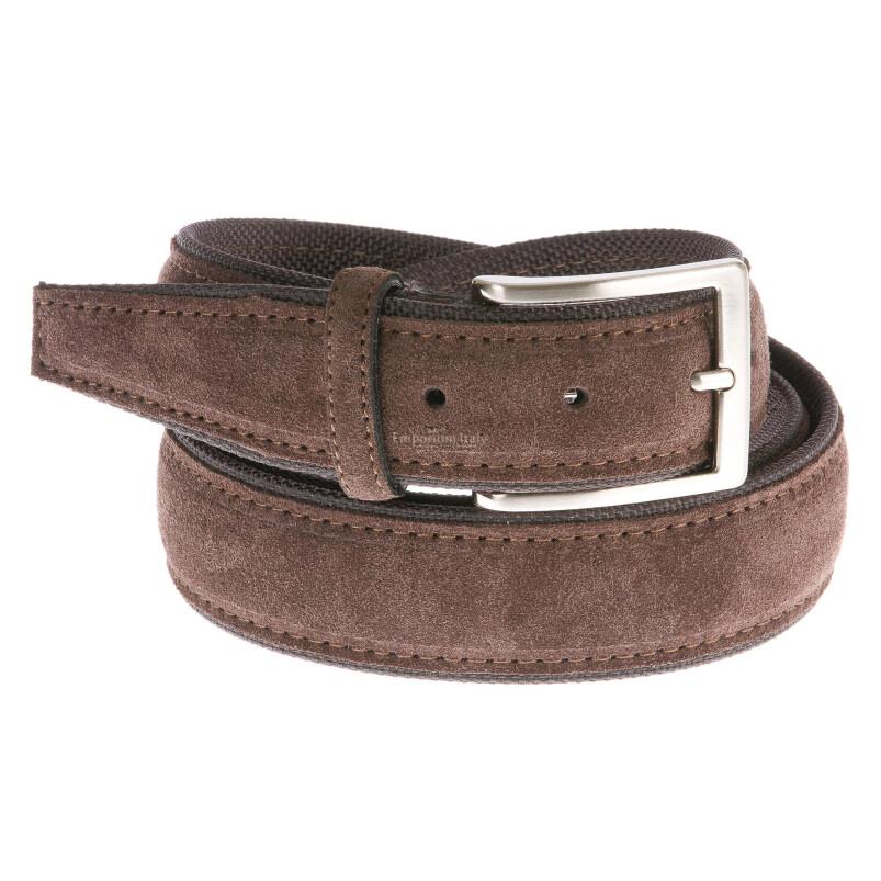 Cintura uomo in vera pelle RINO DOLFI mod. FIRENZE colore TESTA DI MORO Made in Italy