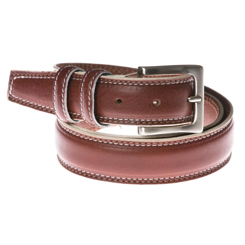 Cintura uomo in vera pelle RINO DOLFI mod. AMSTERDAM colore MARRONE Made in Italy