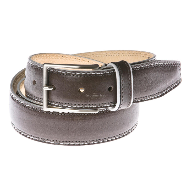 Cintura uomo in vera pelle GP & MAX mod. BANGKOK colore GRIGIO Made in Italy