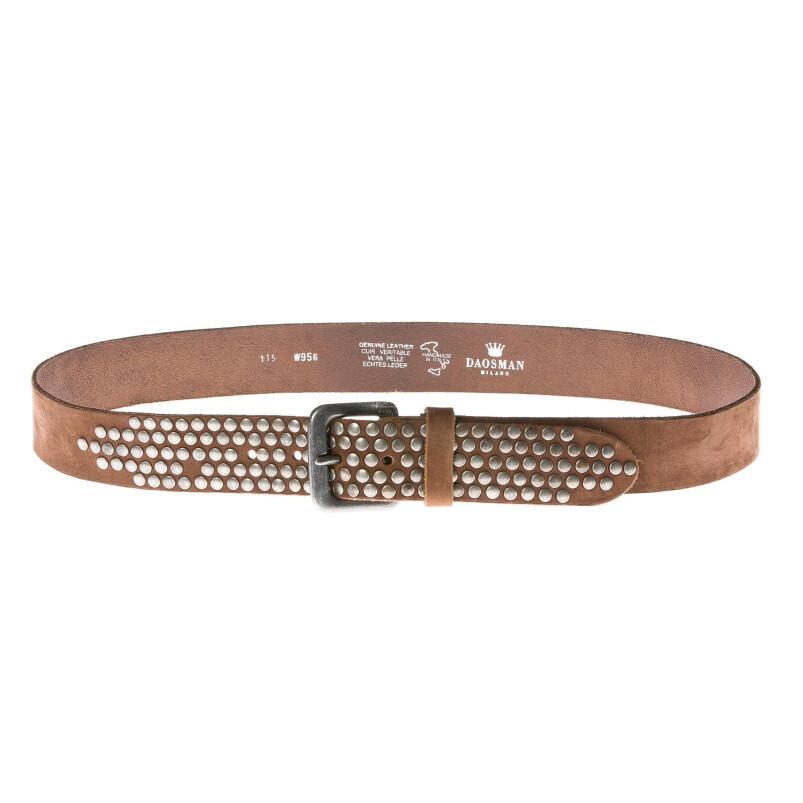 Cintura uomo in vera pelle RINO DOLFI mod. BREDA colore MIELE Made in Italy