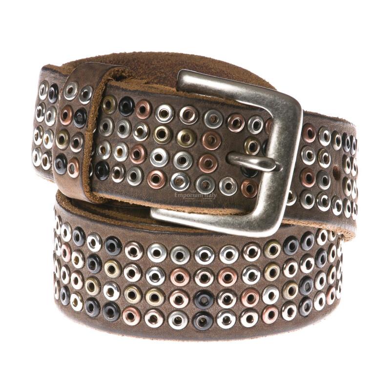 Cintura uomo in vera pelle RINO DOLFI mod. CARTAGENA colore MARRONE Made in Italy