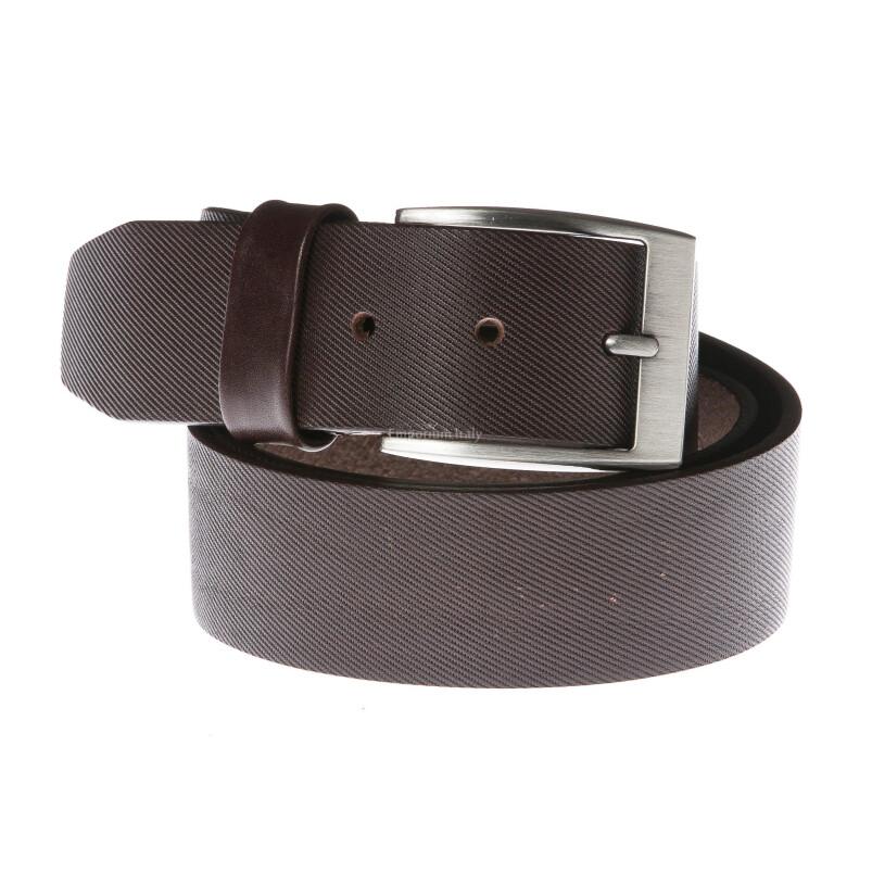 Cintura uomo in vera pelle GP & MAX mod. DALLAS colore TESTA DI MORO Made in Italy
