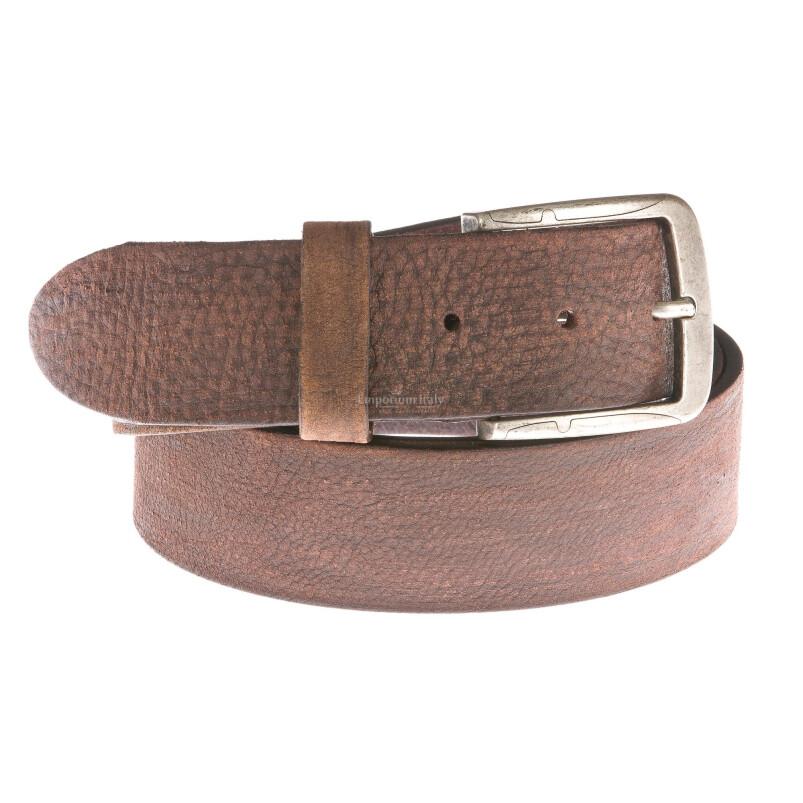 Cintura uomo in vera pelle RINO DOLFI mod. IZMIR colore MARRONE Made in Italy