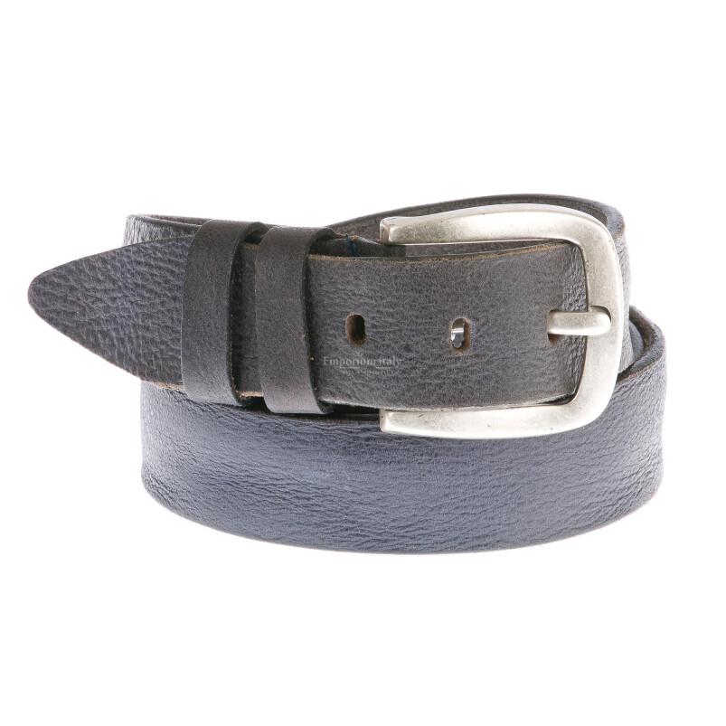 Cintura uomo in vera pelle GIULY mod. PESARO colore NERO Made in Italy