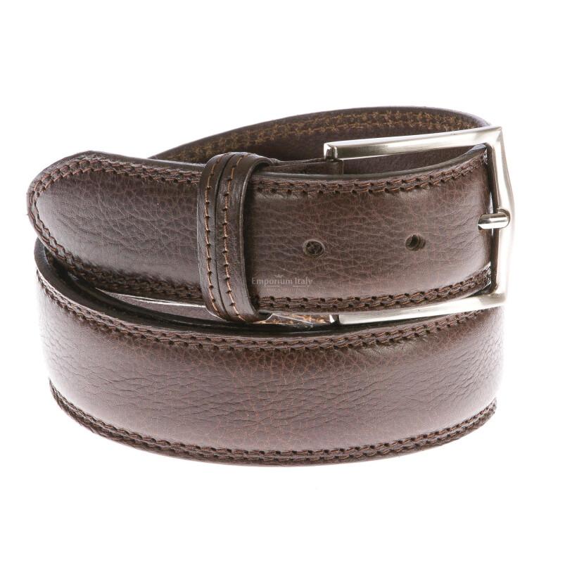 Cintura uomo in vera pelle RINO DOLFI mod. TARANTO colore MARRONE Made in Italy