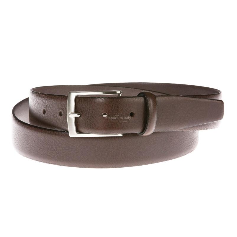 Cintura uomo in vera pelle GIULY mod. VANCOUVER colore MARRONE Made in Italy