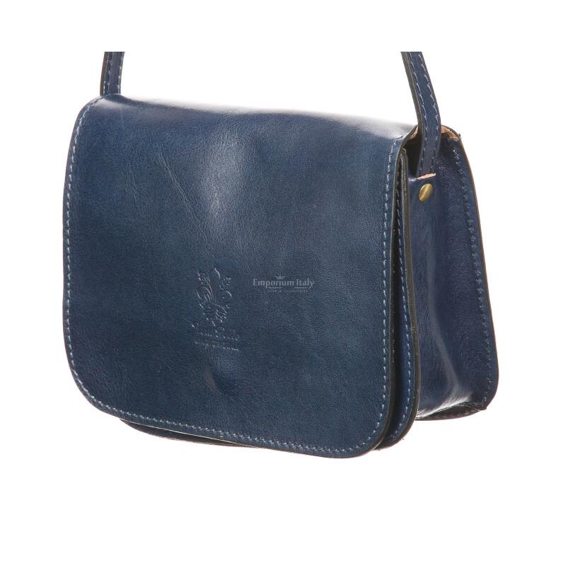 Borsa donna in vera pelle RINO DOLFI mod. ZINA, colore BLU, Made in Italy.