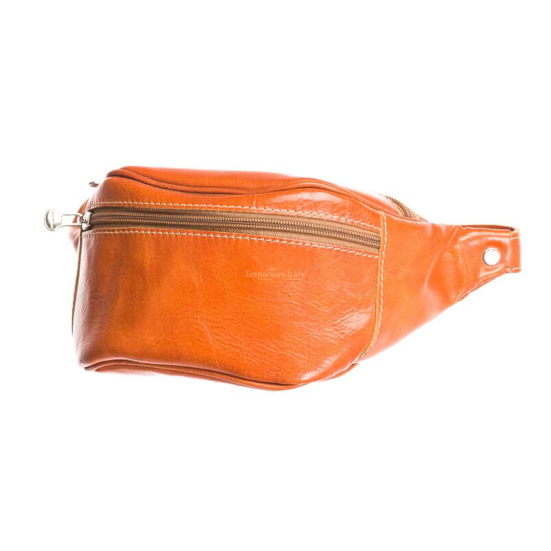 Borsa uomo in vera pelle RINO DOLFI mod. CORRADO, colore MIELE, Made in Italy.