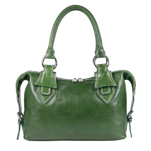 Borsa donna in vera pelle RINO DOLFI mod. MARY, colore VERDE, Made in Italy.