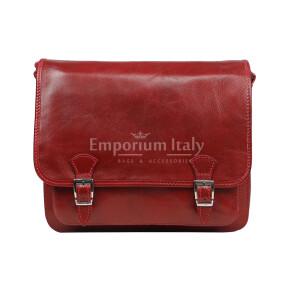Borsa uomo in vera pelle RINO DOLFI mod. LORY, colore ROSSO, Made in Italy.