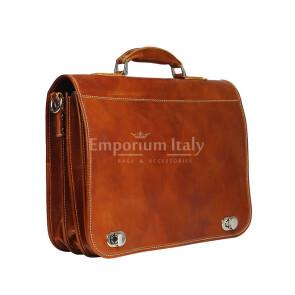 GIORGIO: cartella/borsa ufficio uomo, in cuoio, colore: MIELE, Made in Italy (Borsa)