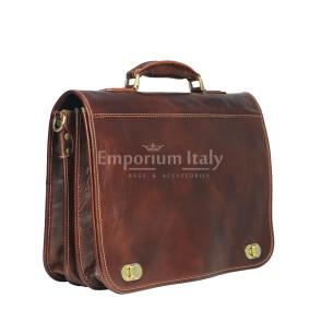 GIORGIO: cartella/borsa ufficio uomo, in cuoio, colore: MARRONE, Made in Italy (Borsa)
