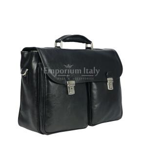 Borsa cartella/ufficio in vera pelle colore nero, mod.PATRIK, RINO DOLFI, Made in Italy. (Borsa)