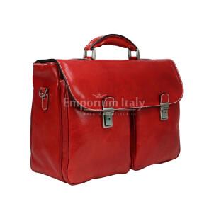 Borsa cartella/ufficio in vera pelle colore rosso, mod.PATRIK, RINO DOLFI, Made in Italy. (Borsa)