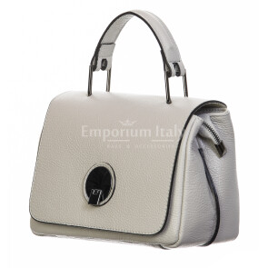 Borsa donna in vera pelle, DELIA REI, mod EVELIN colore beige, Made in Italy.