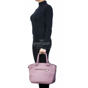 Borsa donna in vera pelle, DELIA REI, mod VICTORIA colore rosa, Made in Italy.
