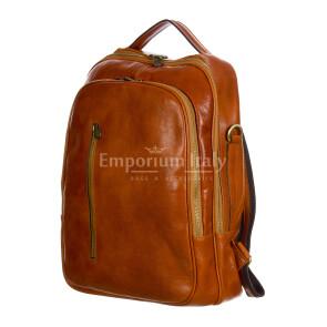 Monte KILIMANGIARO : borsa-zaino uomo / donna in cuoio, colore: MIELE, Made in Italy