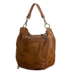 VERONICA : женская сумка через плечо из мягкой винтажной кожи, цвет : КОРИЧНЕВЫЙ, производство Италия