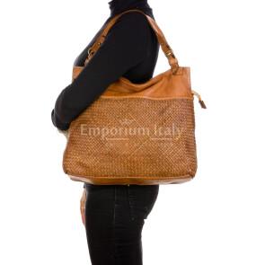 VANDA: сумка женская из мягкой винтажной кожи, цвет: КОРИЧНЕВЫЙ, производство Италия