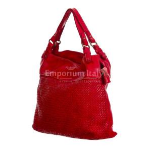 VANDA: сумка женская из мягкой винтажной кожи, цвет: КРАСНЫЙ, производство Италия