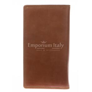 Кошелёк мужской / женский из натуральной кожи соваж COVERI мод. CARDO цвет МЕДОВЫЙ, производство Италия.