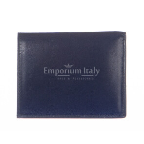 Кошелёк мужской/ женский из натуральной традиционной кожи SANTINI мод. ARGENTINA, цвет СИНИЙ, производство Италия.