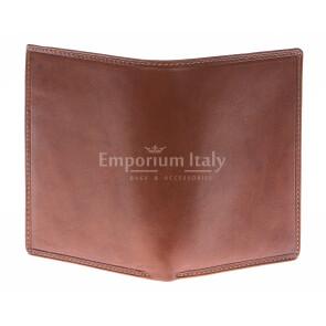 Кошелёк мужской из натуральной традиционной кожи SANTINI, мод. CANADA, цвет КОРИЧНЕВЫЙ, производство Италия.