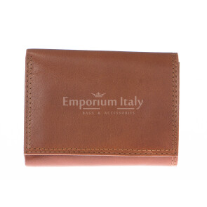Кошелёк мужской из натуральной традиционной кожи SANTINI, мод. PANAMA, цвет МЕДОВЫЙ, производство Италия.